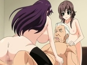 Cute hentai coeds hard gangbanged