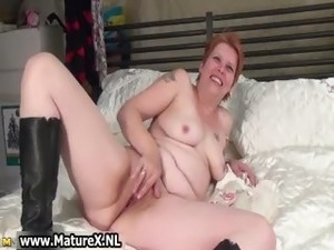Busty mature mom stripping part4