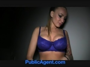 PublicAgent Tattooed blonde model take cash for sex free