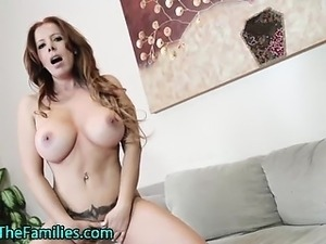 Real stepmom fingering her pussy