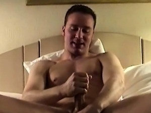 Gay queen auntie masturbating and cumming