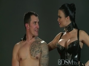 BDSM XXX Slave boy gets tied up and receives more than he bargained free