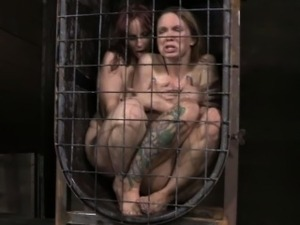 BDSM fetish Bella Rossi dildo fucked by Rain DeGrey