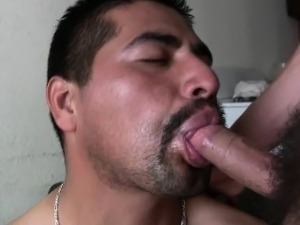 Hot straight latino guys suck each other big uncut verga and