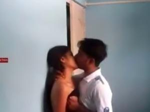 Indian College Babe  With Boyfriend indian desi indian cumshots arab