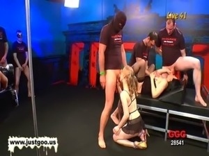 Blonde Meli and Brunette Conny are crazy for bukkake free