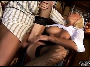 Big tits Italian whore gets banged hard at the bar