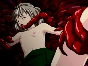 Teen hentai sex slaves wrapped and fucked by tentacles