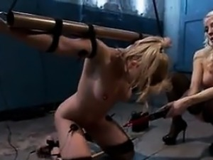 Blonde Bitch Abusing Her Slave
