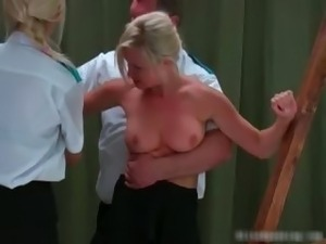 Sexy blonde MILF gets bound and her back part2