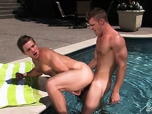 Marcus' sweet ass is wide open for Landon's perfect cock!