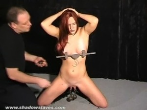 Extreme pussy tortures and nipple clamps of debutant amateur slaveslut Chaos...