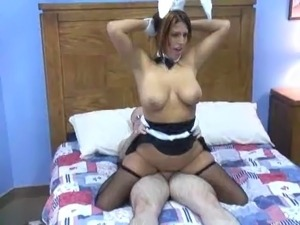 Very sexy busty young girl fucked in bunny outfits.