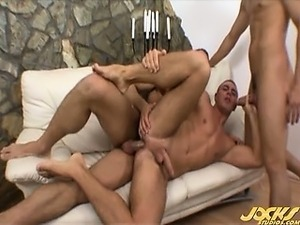 Enrico gets double-stuffed by gorgeous euro twins Alex and