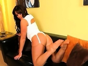 Super glamour stripping on the couch