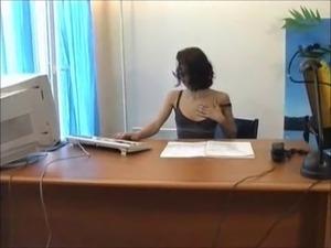 Shaina la beurette (French Arab) - secretary with glasses