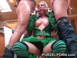 Teen cosplay threesome