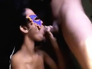 Watch this masked hot Tamil girl moving her slim body on