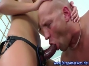 Hot domina fucks losers ass free