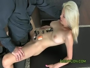 Busty blonde Japanese hottie fucked free