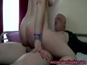 Hot amsterdam whore blows dick free