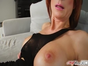 Milf Thing Redhead milf gets her mature pussy fucked free