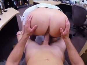 Big ass brunette babe pawned stuff and nailed by pawn man