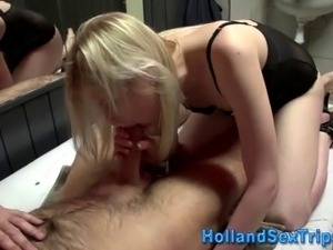 Real prozzie eats and rides cock