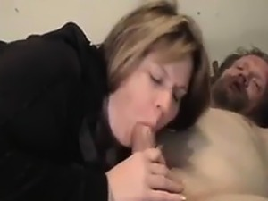 Big Mature Woman Sucking Her Husbands Cock