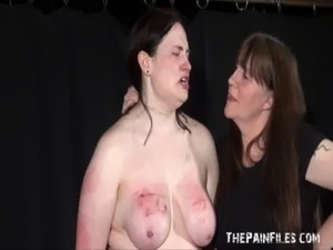 Alyss extreme lesbian bdsm and whipping to tears of private bbw slave girl free