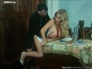Moana Pozzi hardcore scenes from Amiche del cazzo free