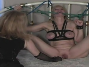 Hot girlfriend bondage gang bang
