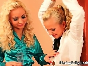 Sweet tied blonde babe gets her leg part6