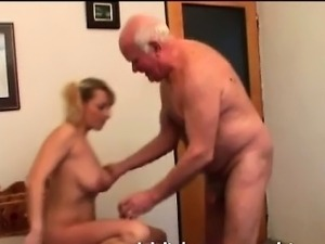 Big Tit Girl Does Old grandpa