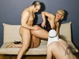 Alyson shows her 2 Arab Slaves the real Arab Heaven, Chastity, Foot worship,...