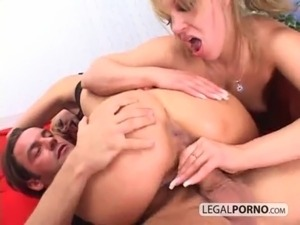 Anal threesome with two hot blondes and a big cock NL-9-04 free
