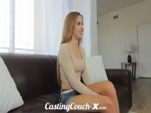 Casting Couch-X Exotic Cali girl nervous to do porn free