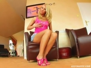 Ass Traffic This blonde master of DP has fun with two guys and cum free