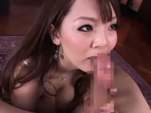 Hitomi Tanaka with huge jugs rides dick