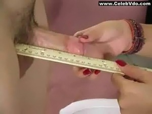 Female Doctor Measures His Stick free