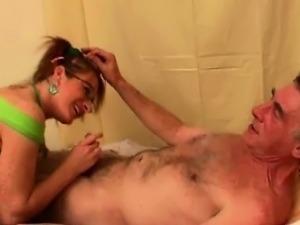 Jenny plays nurse with old pervert