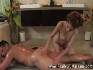 Asian babe masseuse and client free