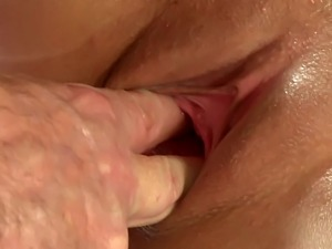Erotic massage couple have a remedial fuck session