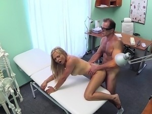 Doctor creampied busty eurobabe