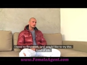 FemaleAgent Gorgeous stud in mind blowing casting free