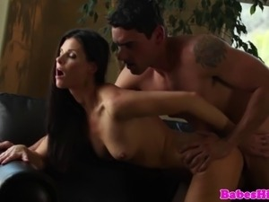 Beautiful glamour couple hot sex during afternoon delight