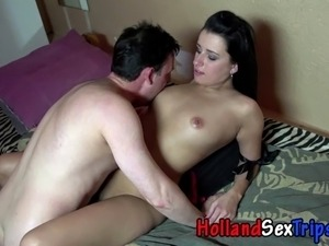 Dutch prozzie cock and feet fun with tourist for cash