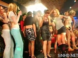 Salacious shafts and twats pleasuring during orgy party