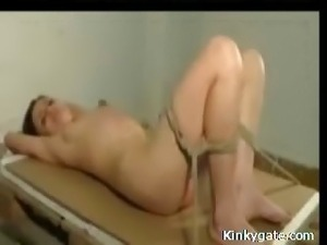Inflicting sub Tessa Pain with Whip and Wax