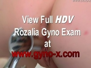 Blonde girl gets speculum enema before anal and gyno examination!